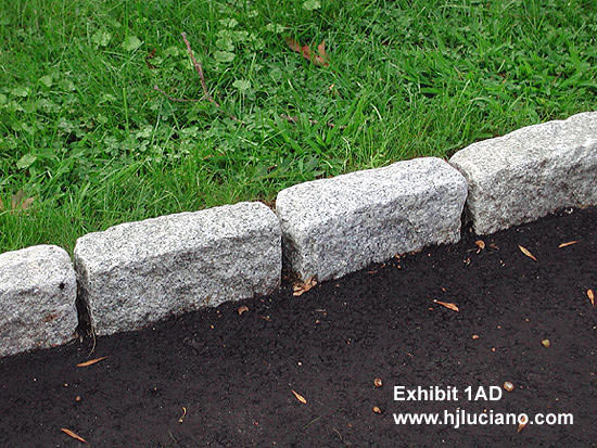 Driveways with stone borders