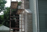 Masonry Stone Veneering Chimney