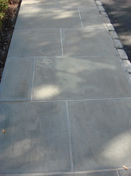 Blue Stone Walkway After